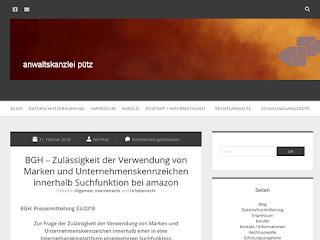 https://rechtsuniversum.de/img.php?imgurl=http://www.kanzlei-puetz.de/2018/02/21/bgh-zulaessigkeit-der-verwendung-von-marken-und-unternehmenskennzeichen-innerhalb-suchfunktion-bei-amazon&size=320