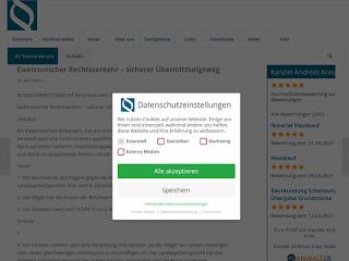 https://anwaltsblogs.de/postimg/https://rechtsanwalt-krau.de/aktuellesrakrau/elektronischer-rechtsverkehr-sicherer-uebermittlungsweg?size=320