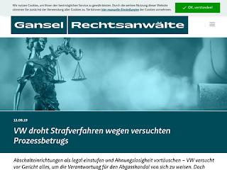 https://anwaltsblogs.de/postimg/https://www.gansel-rechtsanwaelte.de/schlagzeile/vw-droht-strafverfahren-wegen-versuchten-prozessbetrugs?size=320