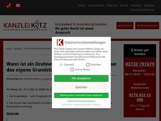 https://anwaltsblogs.de/postimg/https://www.ra-kotz.de/wann-ist-ein-drohnenabschuss-bei-ueberflug-ueber-das-eigene-grundstueck-zulaessig.htm?size=320