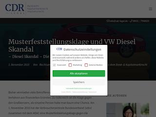 Musterfeststellungsklage Und Vw Diesel Skandal Rechtsuniversum