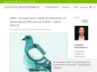 https://rechtsuniversum.de/postimg/https://www.ra-juedemann.de/uwg-e-mail-werbung-mit-gutschein-ist-werbung?size=320
