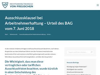 Ausschlussklausel Bei Arbeitnehmerhaftung Urteil Des Bag